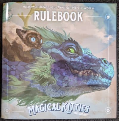 The rulebook for Magical Kitties Save The Day the RPG from Atlas