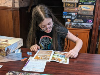 My daughter playing The Big Adventure for Magical Kitties Save The Day