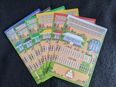 The city boards from Rail Pass the train game.