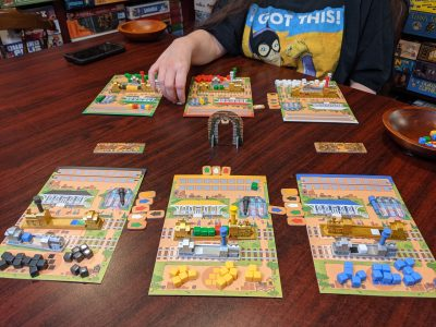 The end of a two player game of Rail Pass