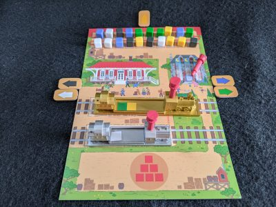 A city board all set up and ready to play in Rail Pass