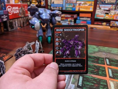 The first enemy we faced in Robotech: Invid Invasion was an Invid Shock Trooper.