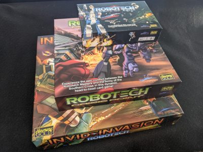 The three Robotech board games from Solar Flare Games