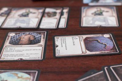Card play in the Aventuria Adventure Card Game