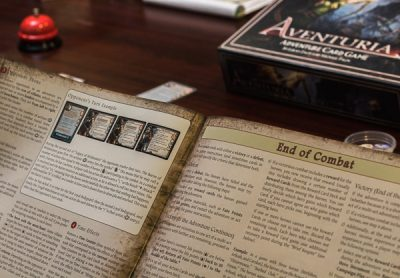 The rules for the Aventuria Adventure Card Game are very clear and rather concise