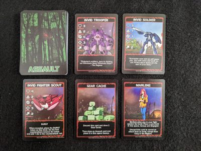 Assault cards from Robotech: Invid Invasion