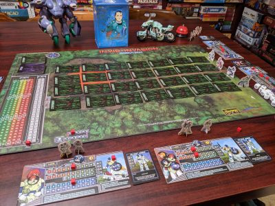 All set up and ready to play Robotech: Invid Invasion