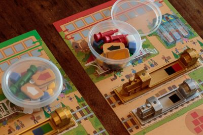 Hot tip, air dry clay containers are perfect for board game bits.