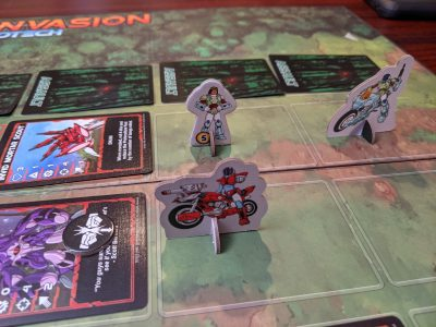 The standees are a great addition to Robotech: Invid Invasion