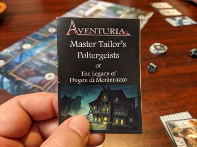 The rather tiny rulebook for Master Tailor's Poltergeists for Aventuria