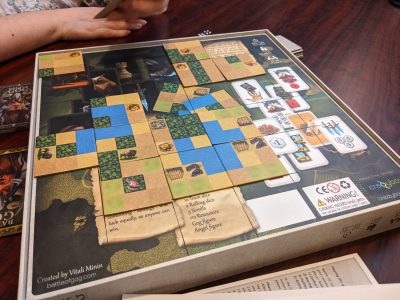 Building the board in Battle of GOG