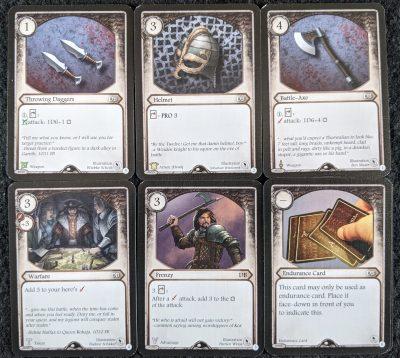 The Dwarf Blacksmith cards in Master Tailers Poltergeist demo set.