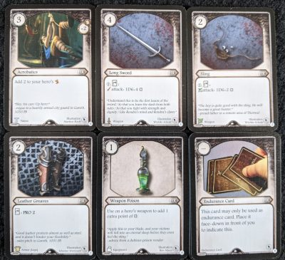 The Half-Elf Thief beginner deck from Master Tailors Poltergeists a great way to learn to play Aventuria
