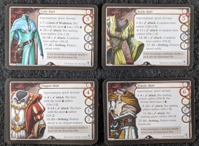Four new Aventuria Henchmen cards are added in Master Tailor's Poltergeists