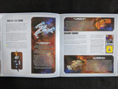 An example of the amount of background information in the Space Base rulebook.