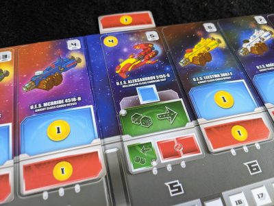 Ship cards docked and deployed in Space Base.