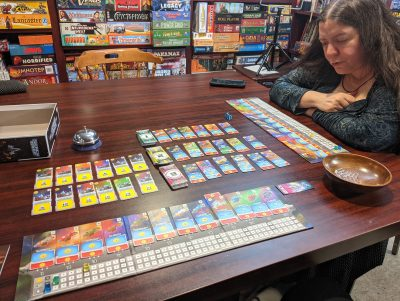 Playing Space Base two players.