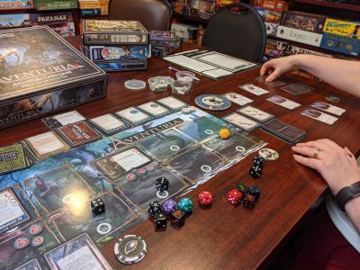 A game of Aventuria featuring content from Aventuria: Arsenal of Heroes
