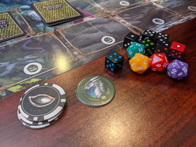 Using the new dice from Adventuria: Arsenal of Heroes