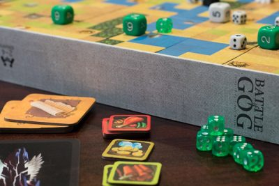 Resource tiles, dice and more from Battle of GOG