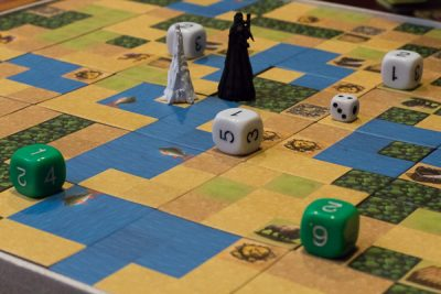 The middle of a two player game of Battle of GOG