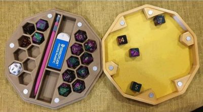 Magnetic Ultimate Dice Box, Mini, Pencil Holder and Tray From Just Wonder 3D Design