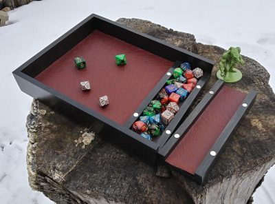 Deluxe Dice Tray and Storage Box with Lid from 3 Sons Woodshop