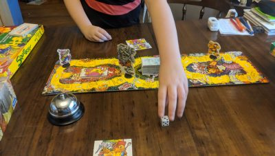 Many classic board games feature roll and move mechanics.