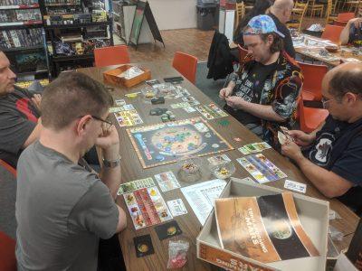 A long game of Terraforming Mars during a tournament blitz.