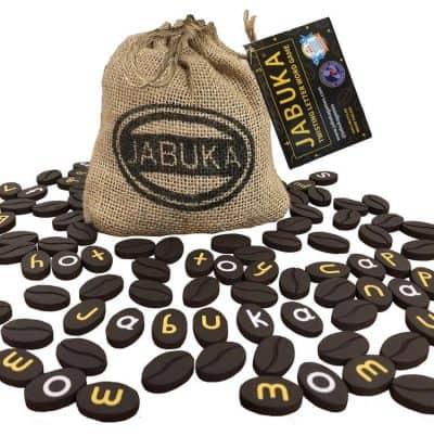 Jabuka, coffee bean tiles word game.