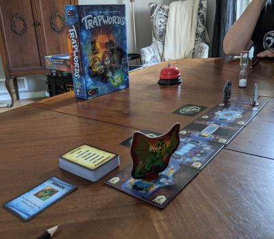 Team based dungeon crawling with a twist in Trapwords