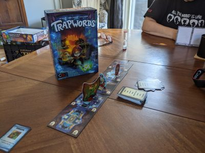 The board game trapwords is a fantasy themed word game.