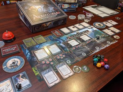 Playing Aventuria and using the hit point trackers from the Wheel of Life expansion.