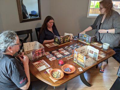 A backstabbing take-that board game, Guild Master.