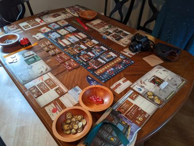 Playing Guild Master from Good Games Publishing