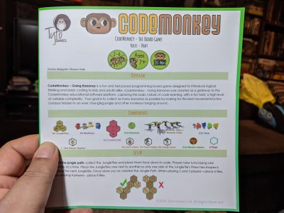 The instructions for how to play Codemonkey Going Bananas