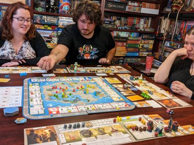 A four player game of Tapestry