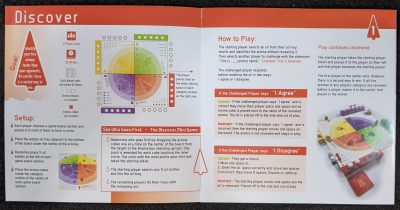 The Discover Rules in Aroma, one of four games you can play.