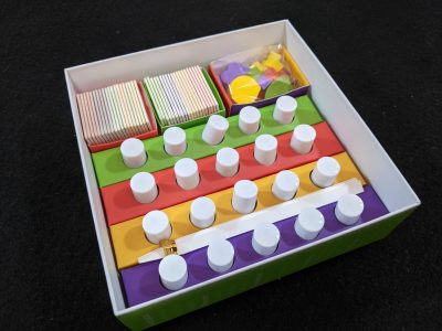 A look inside the box for Aroma a game played with Essential Oils.