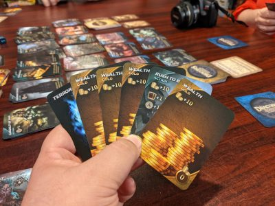 An early hand in a game of Draconis Invasion