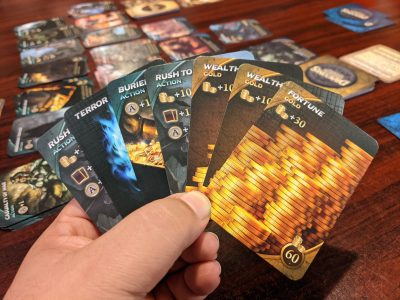 A hand of cards from Draconis Invasion the card game.