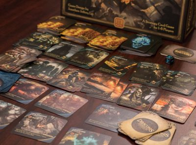 The market and invaders in a game of Draconis Invasion the card game.