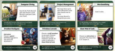 Unfair theme park building board game.