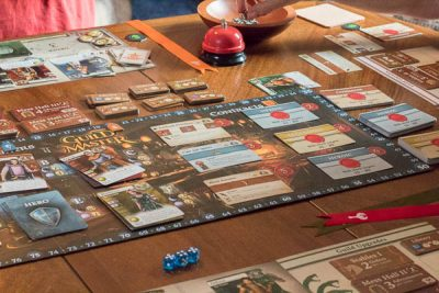 Playing the tabletop board game, Guild Master.