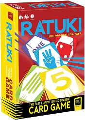 Ratuki is a great ultralight card game for family game night.