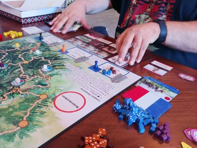 The Red Burnoose combines deck building with wargaming.