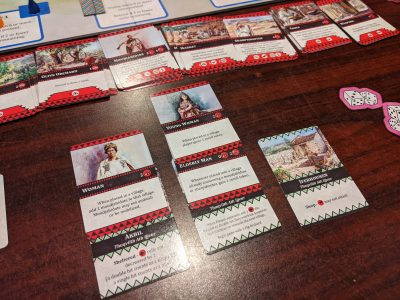 The ability to play cards into your villages is the most innovative aspect of The Red Burnoose.