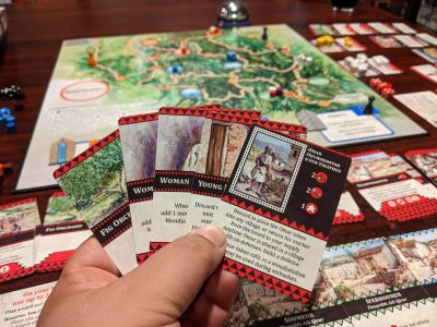 Defending Algeria in The Red Burnoose a deck building war game.