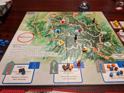 It's not looking good for the Algerian villagers in this game of the Red Burnoose.