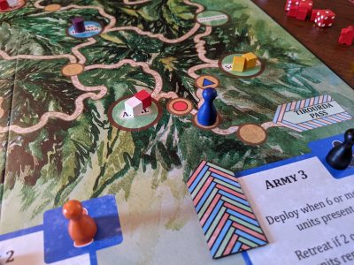 Which way will the French go? You never know in a game of The Red Burnoose